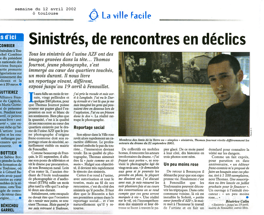 article presse thomas journot 2002